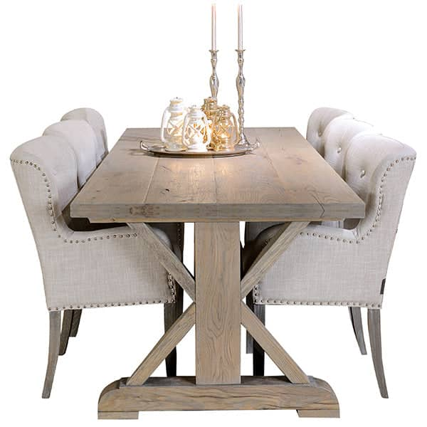 Hoxton Rustic Oak Trestle Dining Table and Chairs  sc 1 st  Modish Living & Dining Tables | Modish Living