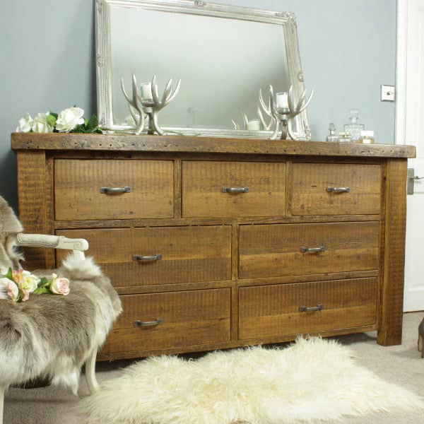 Large Moss Reclaimed Wood Chest Of Drawers - Modish Living