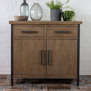 Medium sized industrial and rustic sideboard made of wood