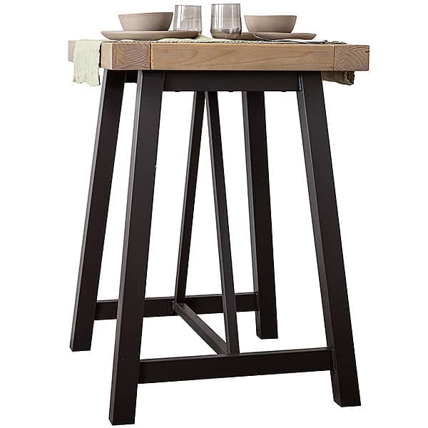 Industrial Lansdowne Rustic Wood Bar Table