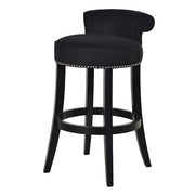 Kempley Roll Back Upholstered Bar Stool Black