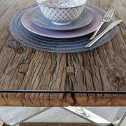 Close up of rKensington Reclaimed wood table top