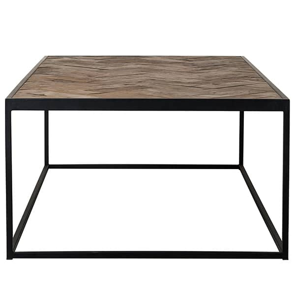 Kingsbridge Industrial Reclaimed Oak Coffee Table Side