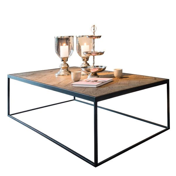 Kingsbridge Industrial Reclaimed Oak Coffee Table Lifestyle Cutout