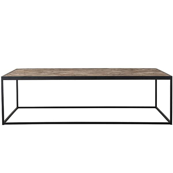 Kingsbridge Industrial Reclaimed Oak Coffee Table Side View
