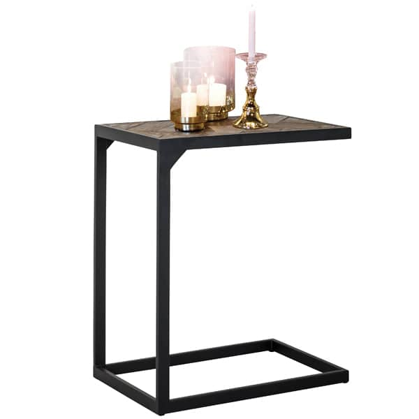 Kingsbridge Industrial Reclaimed Oak Side Table Cutout