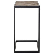 Kingsbridge Industrial Reclaimed Oak Side Table Front