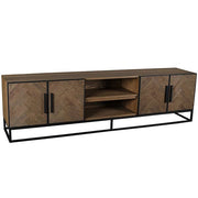 Kingsbridge Reclaimed Oak Wood TV Unit with Doors