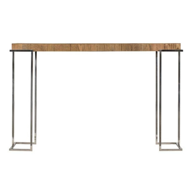 A cut out view of the Knightsbridge Reclaimed Oak Console Table