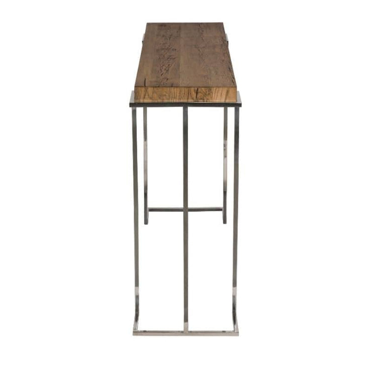A cut out view showing the end and top of the Knightsbridge Reclaimed Oak Console Table
