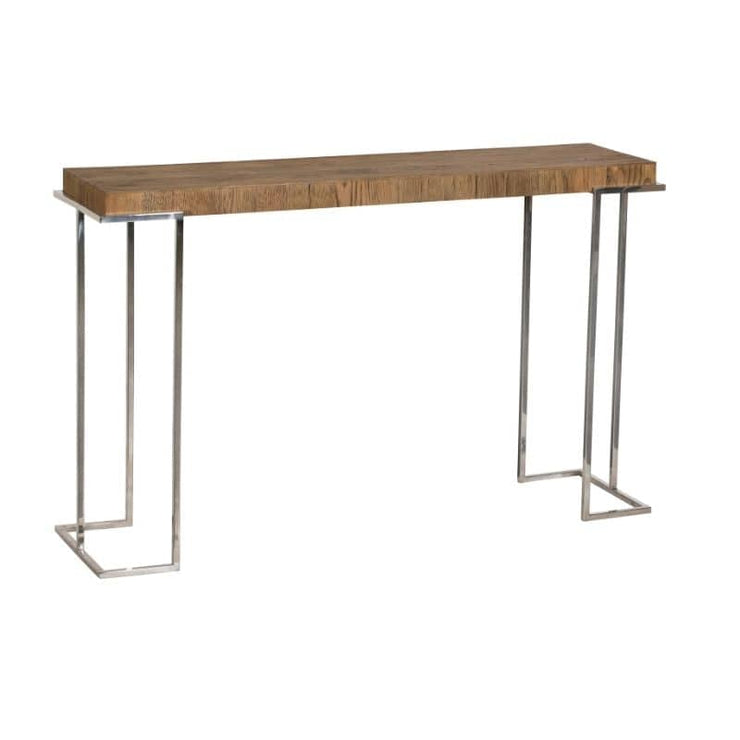An angled cut out of the Knightsbridge Reclaimed Oak Console Table