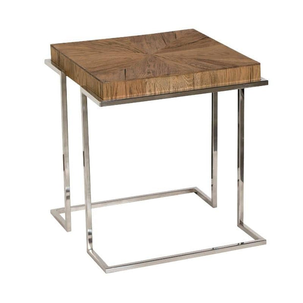 A cut out image of the Knightsbridge Reclaimed Oak Lamp Table
