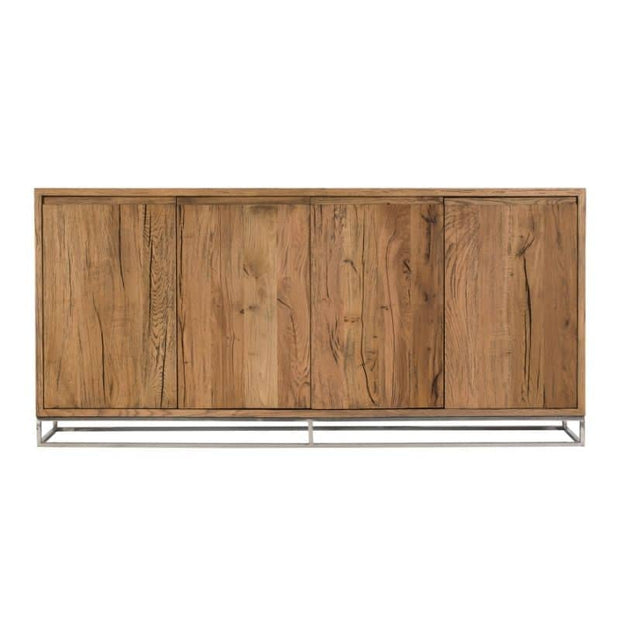 A cut out view of the front of the Knightsbridge Large Reclaimed Oak Sideboard
