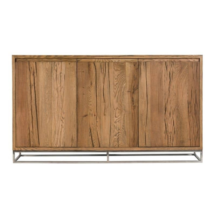 The Knightsbridge Medium Reclaimed Oak Sideboard with closed doors