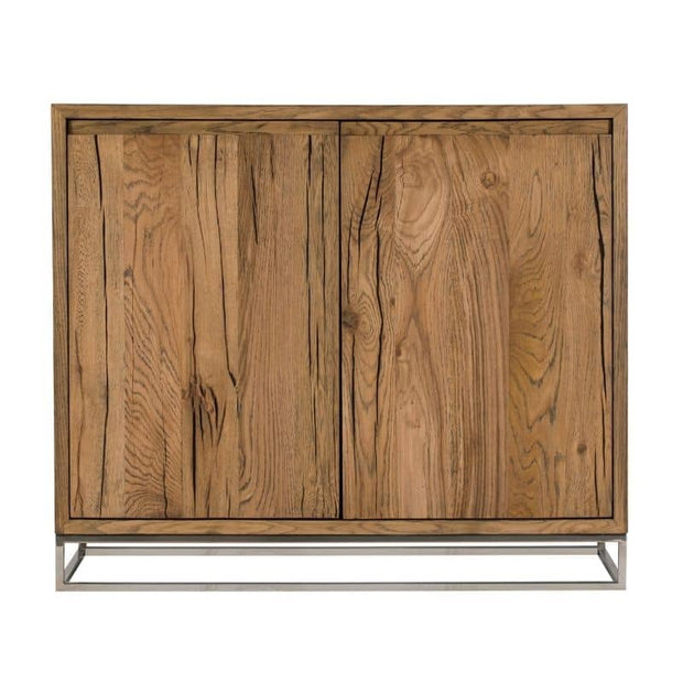 A cut out view of the front of the Knightsbridge Small Reclaimed Oak Sideboard