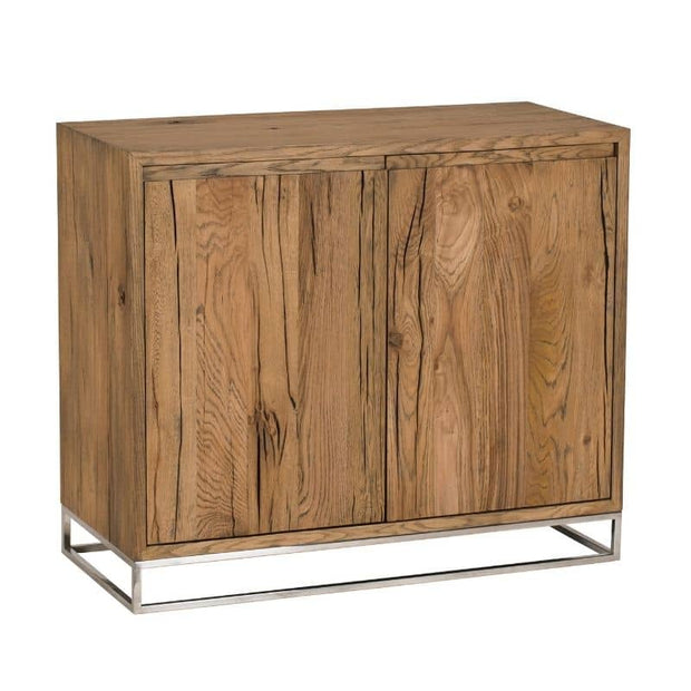 An angled shot of the Knightsbridge Small Reclaimed Oak Sideboard