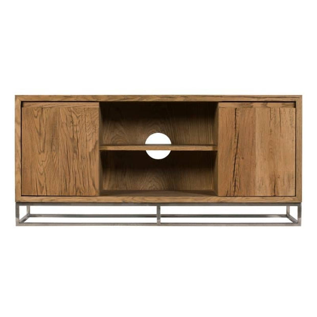 A cut out image of the Knightsbridge Small Reclaimed Oak TV Unit