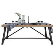 Industrial Lansdowne Rustic Wood Extending Dining Table