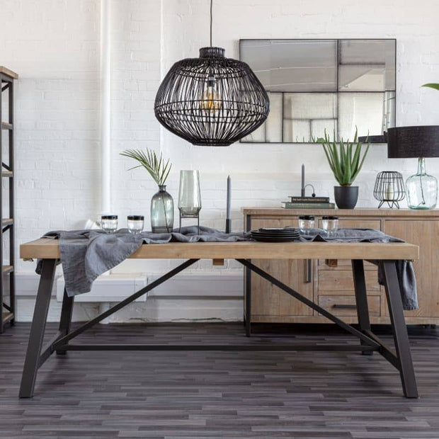 Rustic Industrial Extending Dining Table