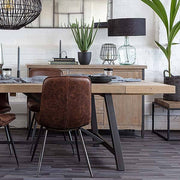 Industrial Lansdowne Rustic Wood Extended Dining Table