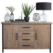 Lansdowne Large Wooden Industrial Sideboard