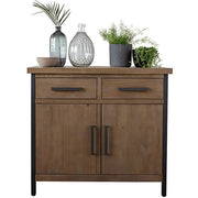 Lansdowne Medium Rustic Wood Industrial Sideboard