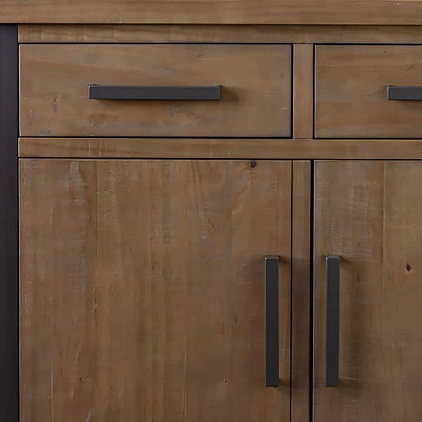 Wood Detail of Lansdowne Medium Reclaimed Wood Industrial Sideboard