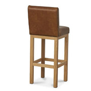 Leather Country Bar Stool Back