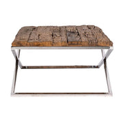 Luxe Kensington Reclaimed Wood Coffee Table side