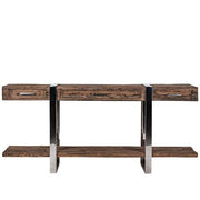 Luxe Kensington Reclaimed Wood Console Table with Drawers Front