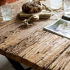 Luxe Kensington Industrial Reclaimed Wood Dining Table Top Closeup
