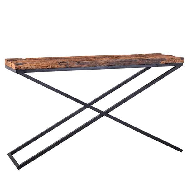 Luxe Kensington Reclaimed Wood Industrial Console Table - Modish Living