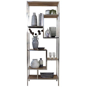Maddox Reclaimed Wood Shelving Unit with accessories on it