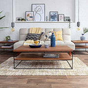 Mitcham Industrial Oak Coffee Table with sofa