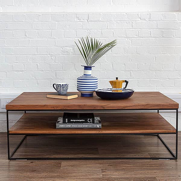 Industrial Style Mitcham Oak Coffee Table