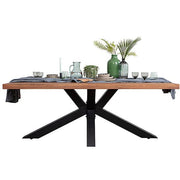 Mitcham Industrial Oak Spider Leg Dining Table