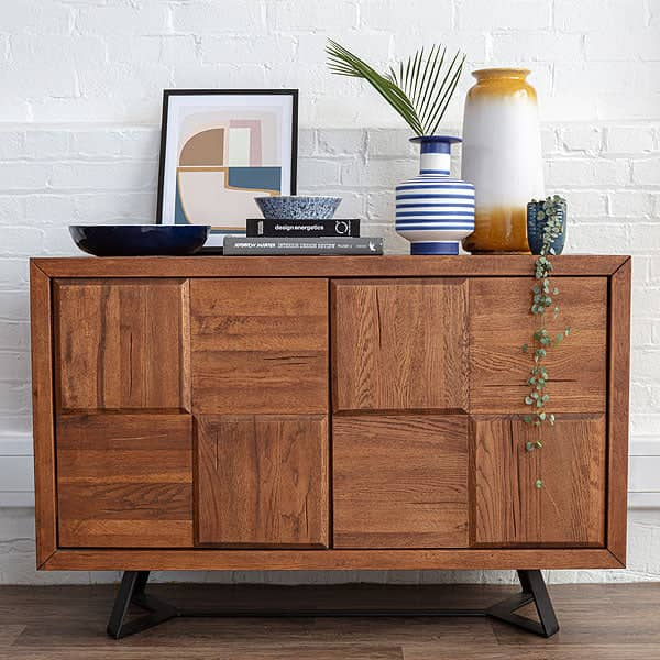 Mitcham Medium Squared Industrial Sideboard with 2 doors