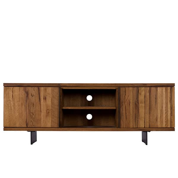 Mitcham Industrial Oak Wood TV Unit