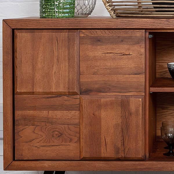 Door detail of Mitcham Large Oak Sideboard