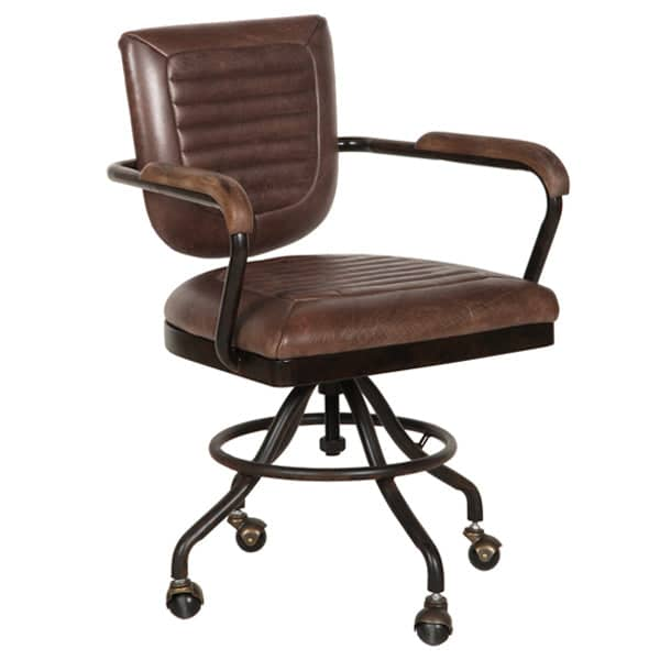 Mustang Brown Leather Office Chair