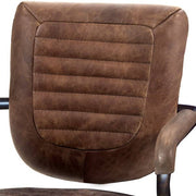 Mustang Brown Leather Office Chair Back