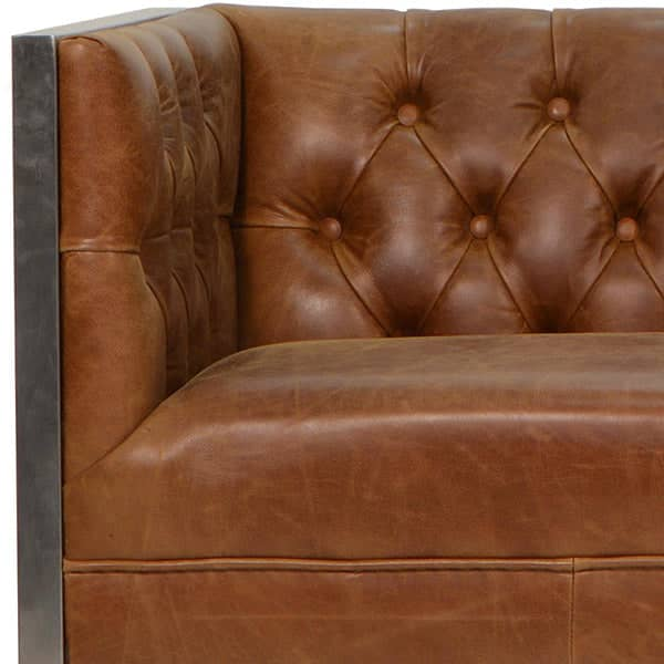 Otto Industrial Chester Club Armchair Closeup