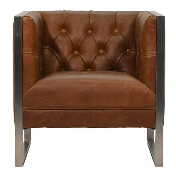 Otto Industrial Chester Club Armchair in Leather