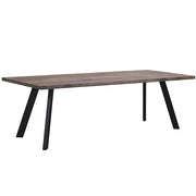 Picasso Industrial Oak Dining Table Dark Cutout