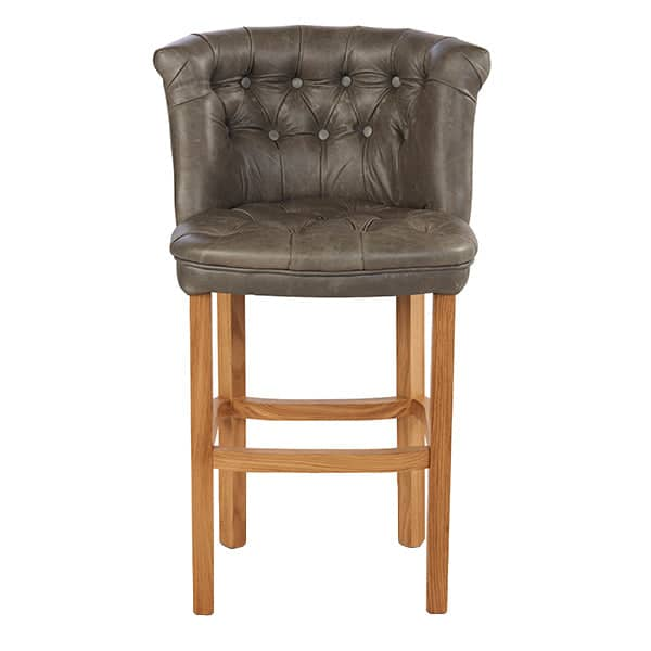 Parker Leather Bar Stool in Leather Cutout