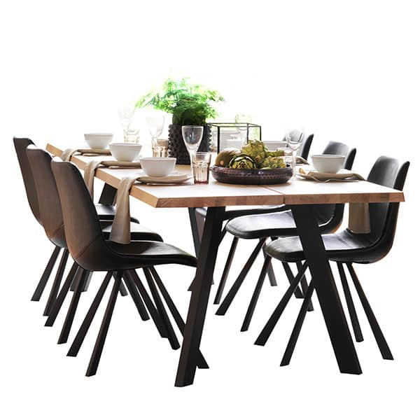 Picasso Industrial Oak Dining Table Cutout
