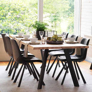Picasso Industrial Oak Dining Table Natural