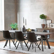 Picasso Industrial Oak Dining Table Dark