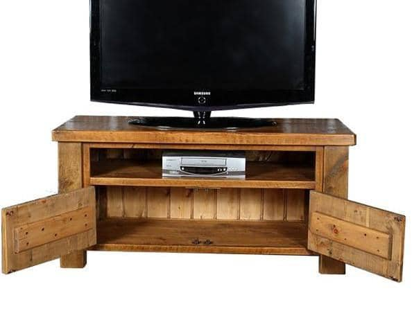 Moss Open 2 Door Reclaimed Wood TV Cabinet