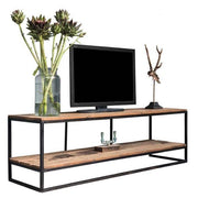 Raffles Reclaimed Wood Industrial TV Unit Lifestyle Cutout